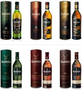 Glenfiddich Bottles Chai Mới