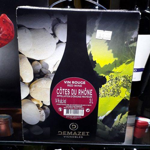 Vang Pháp COTES DU RHONE ( Bịch 3L)