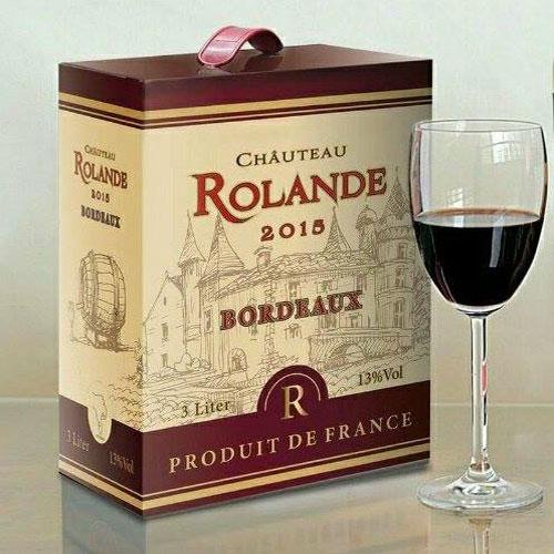 Ruou Vang Bich Phap Rolande Bordeaux 3 Lit