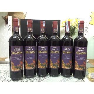 Kết quả hình ảnh cho vang ngọt bellavita semi dolce