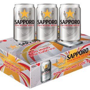 Thung Lon 330ml Sapporo