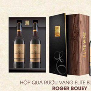 Hop Qua Tet Vang 2 Chai Elite Black Roger Bouey