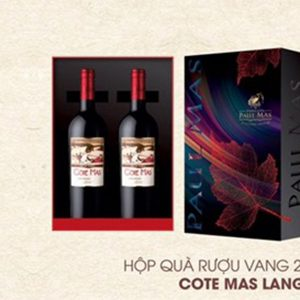 Hop Qua Tet Vang 2 Chai Paulmas Cote Mas Languedoc